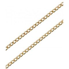 Chaine Or Jaune 750 Maille Gourmette Claire 1.4mm - 45cm