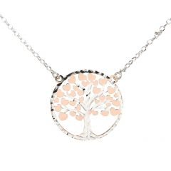 76c9370105c3 ... avec motif rond ajouré de vagues Ref. 45447 55 € · Collier argent rhodié  arbre de vie ...