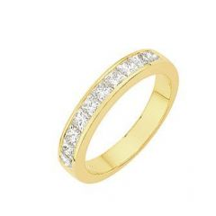 Demi Alliance Diamant Princesse 1.00 carat