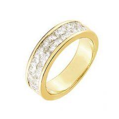 Demi Alliance Diamant Princesse 1.50 carat