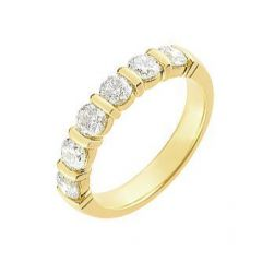 Demi Alliance Diamant serti barrettes 1.20 carat