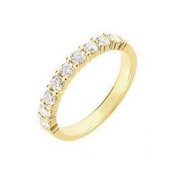 Demi Alliance Diamant serti griffes 0.75 carat