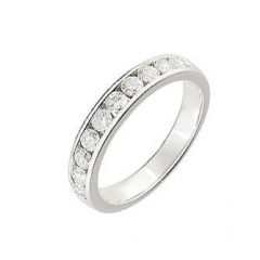 Demi Alliance Diamant serti rail 0.65 carat