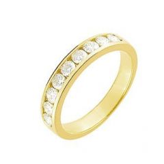 Demi Alliance Diamant serti rail 0.75 carat