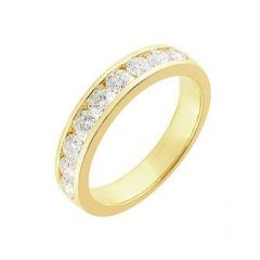 Demi Alliance Diamant serti rail 1 carat