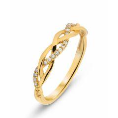 Demi Alliance Or Jaune Diamant 0.10 carat