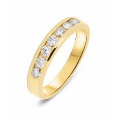 Demi Alliance Or Jaune Diamant (0.45ct)