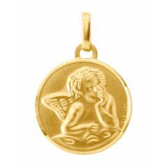 Médaille baptême ange en Or Jaune 750 (15mm)