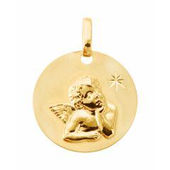 Médaille baptême Ange en Or jaune 750 (16mm)