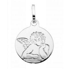 Médaille Bapteme Argent Ange (18mm)