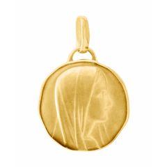 Médaille baptême vierge en Or jaune 750 (15mm)