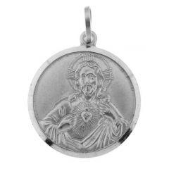 Medaille Christ Argent Rhodié 22mm
