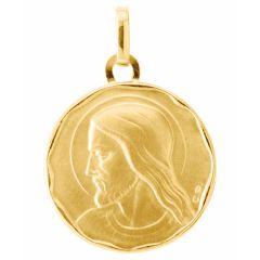 Médaille Christ en Or Jaune 750 (17mm)