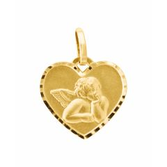 Médaille Coeur Ange Or  Jaune 750
