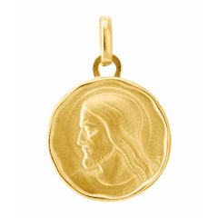 Médaille en Or Jaune 750 motif Christ (15mm)
