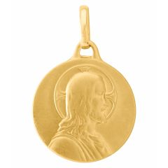 Médaille Or  Jaune 750 Christ de Profil 18mm