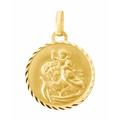 Médaille Saint Christophe en Or jaune 375