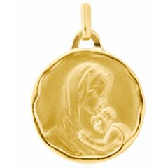 Médaille vierge à l'enfant en Or jaune 750 (18mm)