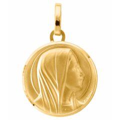 Médaille Vierge en Or jaune 750 (17mm)