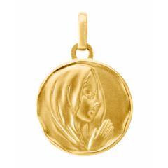 Médaille vierge en prière en Or jaune 750 (15mm)