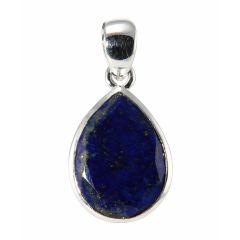 Pendentif Argent 925  Lapis lazuli Ovale facetté 18x13mm