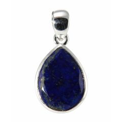 Pendentif Argent 925  Lapis lazuli Poire facetté 18x13mm