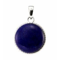 Pendentif Argent 925  Lapis lazuli Rond 19mm