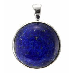 Pendentif Argent 925  Lapis lazuli Rond 23mm