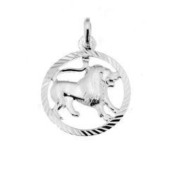 Pendentif Argent Zodiaque Lion Diam. 16mm