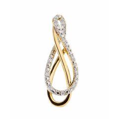 Pendentif Or 750 2 tons et Diamant