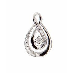 Pendentif Or Blanc 750 et Diamant