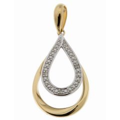 Pendentif Or Jaune 750 Diamant  0.018 carat