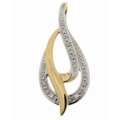 Pendentif Or Jaune 750 Diamant  0.044 carat