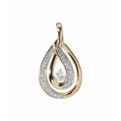 Pendentif Or Jaune 750 Diamant  0.15 carat