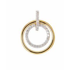 Pendentif Or Jaune 750 et Diamant