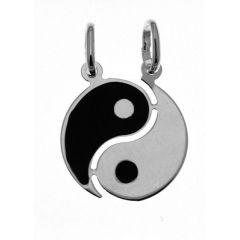 Pendentif yin yang séparable en argent