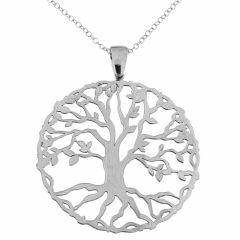 Sautoir argent et pendentif arbre de vie