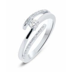 Solitaire Or Blanc Diamant (0.20ct)