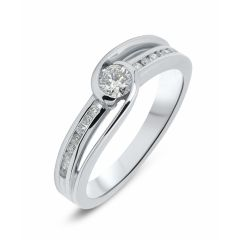 Solitaire Or Blanc Diamant (0.33ct)
