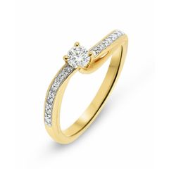 Solitaire Or Jaune 750  Diamant  0.20 carat