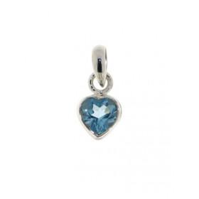 Topaze Bleu Pendentif en Argent Sterling 925 Bijoux Bltp965