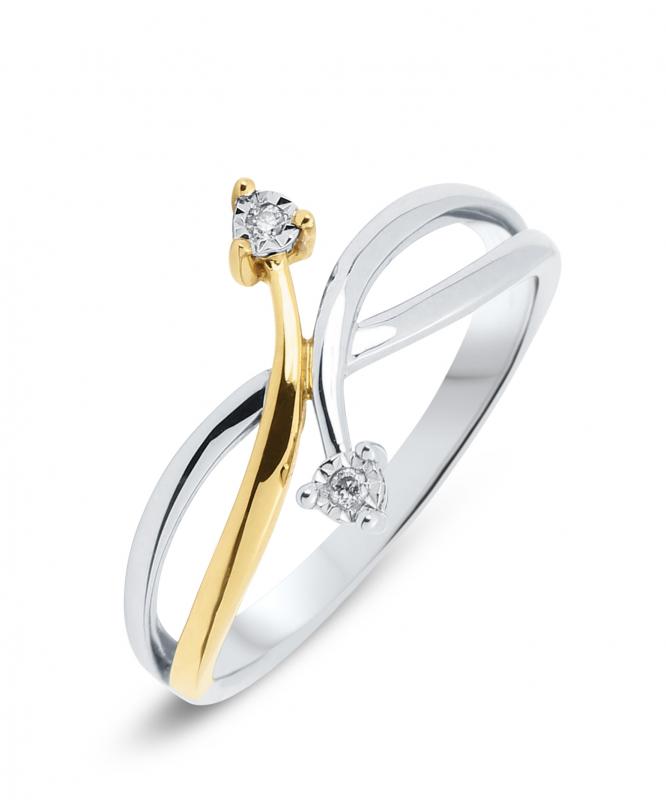 Bague 2 Ors Diamant (0.02ct) Ref. 28693 777ca24f3218