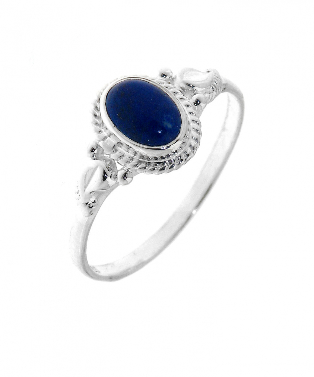 bague argent 925 lapis lazuli pierre ovale 7x5mm ref 32063. Black Bedroom Furniture Sets. Home Design Ideas