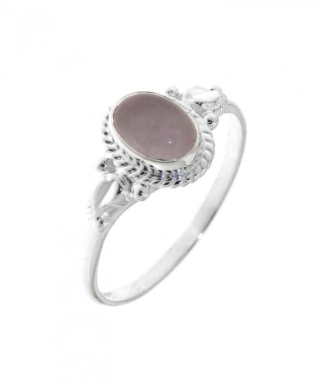bague argent 925 quartz rose pierre ovale 7x5mm ref 32066. Black Bedroom Furniture Sets. Home Design Ideas