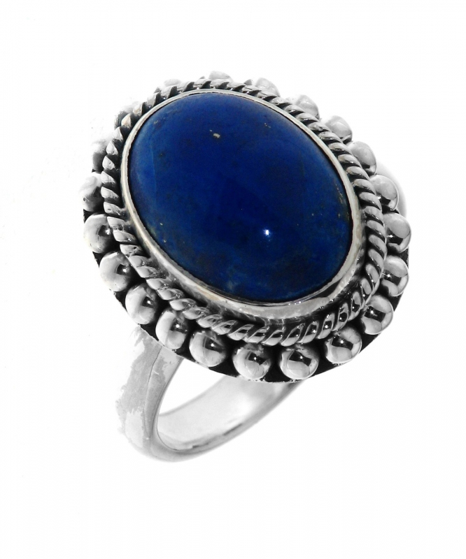 bague argent lapis lazuli ovale 14x10mm ref 31994. Black Bedroom Furniture Sets. Home Design Ideas