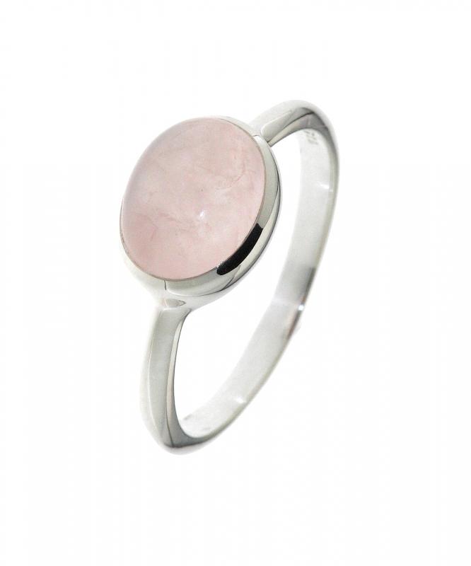 bague argent quartz rose ovale 9x7mm ref 32046. Black Bedroom Furniture Sets. Home Design Ideas