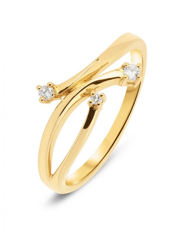 bague diamant or jaune