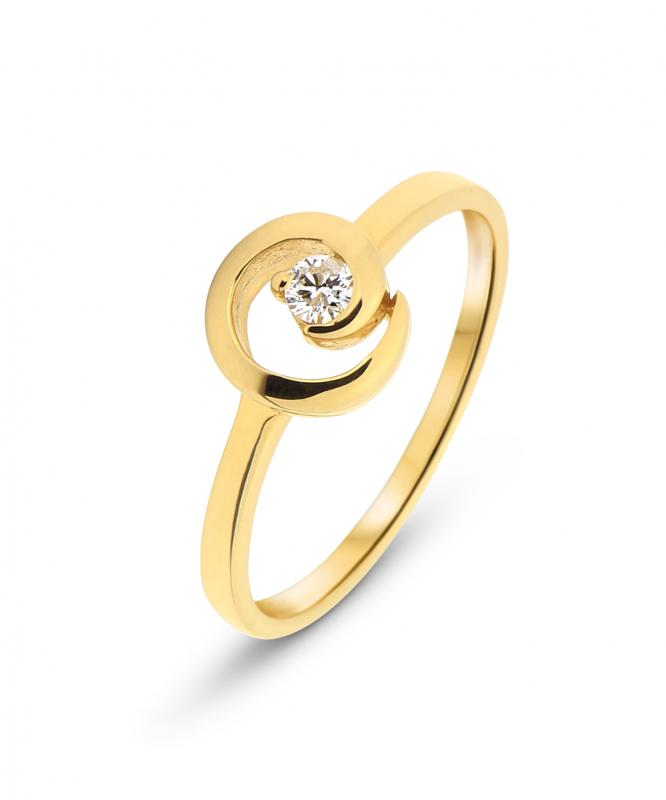 bague diamant et or jaune