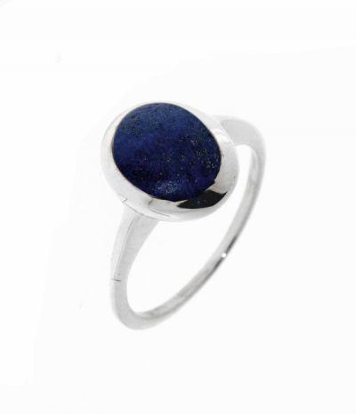 bague lapis lazuli argent cabochon ovale 9x7mm ref 32133. Black Bedroom Furniture Sets. Home Design Ideas