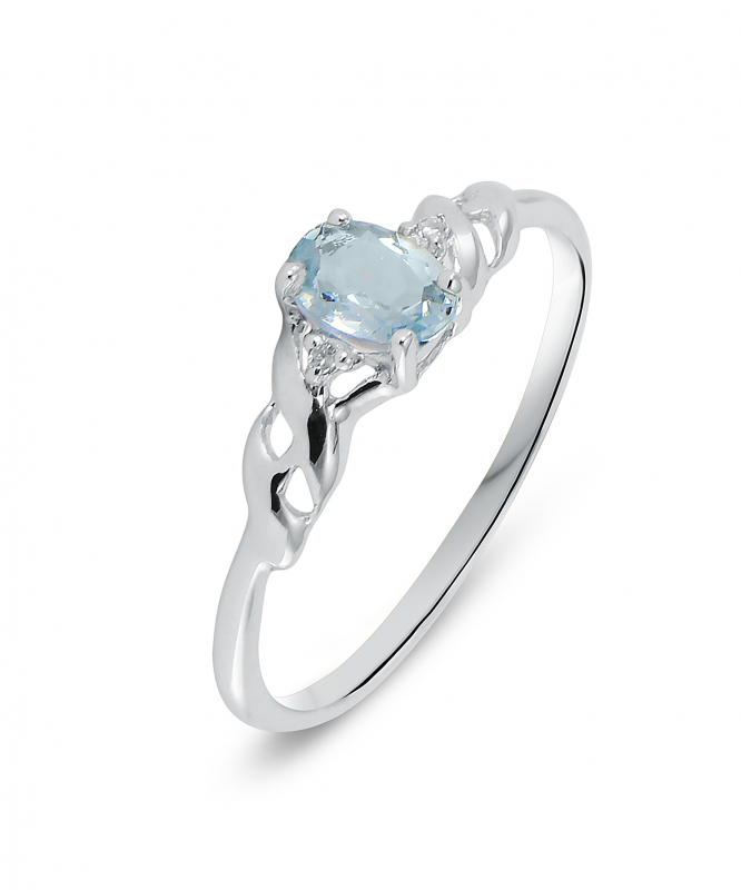 bague diamant aigue marine